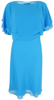 Tahari by Arthur S. Levine Women's Flutter Sleeeve Chiffon Dress