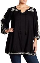 Angie Embroidered Tunic (Plus Size)