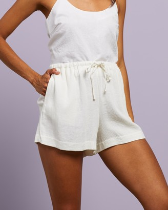 Nude Lucy Women's White High-Waisted - Rumi Linen Shorts - Size XS at The Iconic