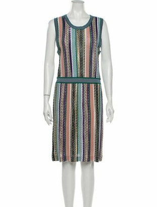 Missoni Striped Knee-Length Dress Purple