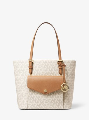 MICHAEL Michael Kors Jet Set Medium Logo Pocket Tote Bag