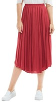Vince Camuto Women's Pleat Rumple Midi Skirt