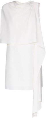 Oscar de la Renta Draped Wool Mini Dress