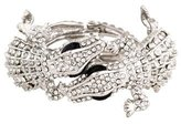 Kenneth Jay Lane Crystal Alligator Hinged Bracelet