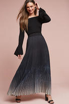 Blue Tassel Pleated Ombre Maxi Skirt