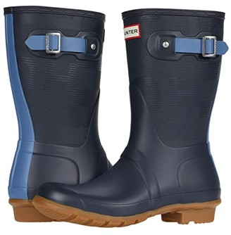 Hunter Short Exploded Logo (Navy/Gill Wave) Women's Boots