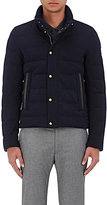 Moncler Gamme Bleu Men's Down-Quilted Cotton-Blend Coat-NAVY