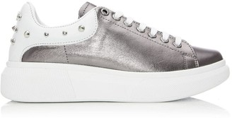 Moda In Pelle Briton Pewter Leather