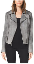 Michael Kors Sueded Leather Moto Jacket