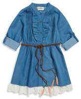 Rare Editions Girl's Denim Shirt Dress