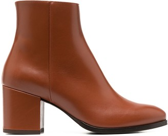 Scarosso Block-Heel Ankle Boot