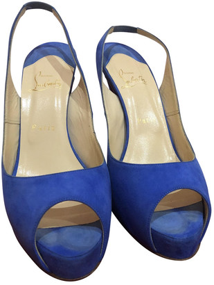 Christian Louboutin Very PrivA Blue Suede Heels