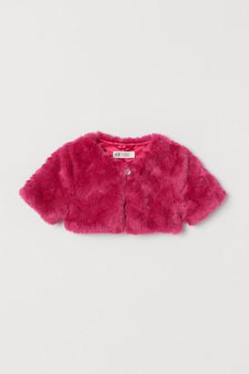 H&M Faux Fur Bolero Jacket - Pink