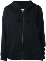 MM6 MAISON MARGIELA zipped hoodie - women - Cotton - M