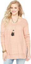 Motherhood Wendy Bellissimo High-low Hem Maternity Sweater
