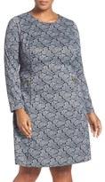 MICHAEL Michael Kors Plus Size Women's Paisley Long Sleeve Fit & Flare Dress