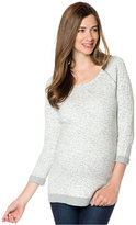 A Pea in the Pod Maternity Raglan-Sleeve Animal-Print Sweater