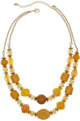 MIXIT Mixit Mustard 18 Inch Cable Beaded Necklace