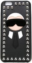 Fendi 'Karlito' iPhone 6 Plus case - women - Calf Leather/Mink Fur - One Size