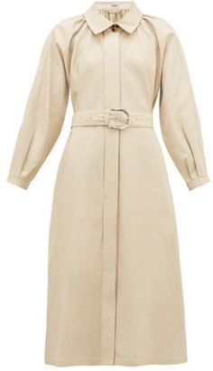 Dodo Bar Or Berry Collared Leather Dress - Ivory