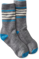 L.L. Bean SmartWool Striped Hiking Socks, Medium Crew