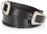 Rebecca Minkoff Double Buckle Whipstitch Belt