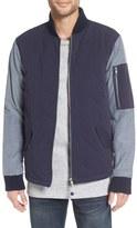 Altru 'Common' Colorblock Mixed Media Bomber Jacket