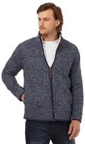 Mantaray Blue Waffle Texture Funnel Neck Sweater