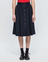 MAISON KITSUNÉ Flannel Oki Butonned Skirt
