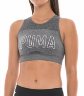 Puma Foil-Logo Seamless Sports Bra - Low Impact, Removable Cups (For Women)
