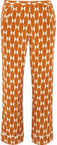Tory Burch Davi Printed Silk-crepe Pants