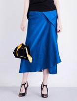 Roland Mouret Lathbury Karen hammered-silk skirt