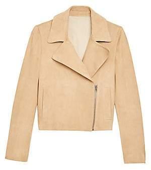 Theory Women's Slim Leather Moto Jacket