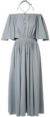 Rosie Assoulin Off-the-shoulder Poplin Midi Dress