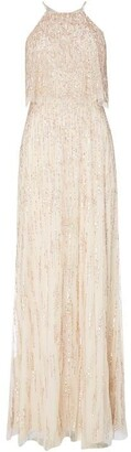 Adrianna Papell Halter Neck Maxi Dress