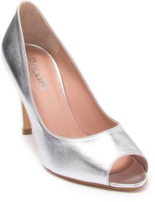 Pollini Footwear Spuntata Peep Toe Pump