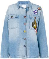 Mira Mikati denim patch jacket