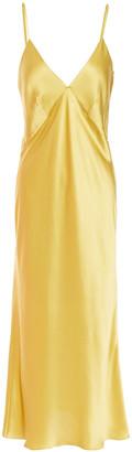 Olivia von Halle Issa Silk-satin Slip Dress