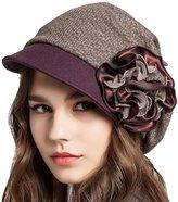 Supergirl Women's Wool Bucket Hat Fashion Flower Homborg Hat