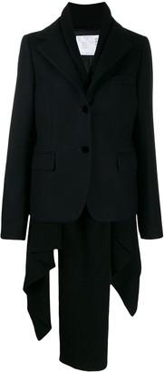 Sacai layered blazer jacket