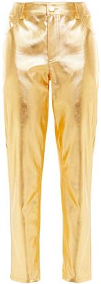 Area Metallic Coated High-rise Straight-leg Jeans
