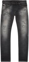 Diesel Spender 0855d Distressed Skinny Jogg Jeans