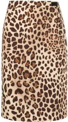 Blumarine Be Leopard Print Pencil Skirt