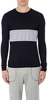 Band Of Outsiders MEN'S CONTRAST-PANEL SWEATER SIZE 4