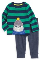 Toddler Boy's Mini Boden Cozy Arctic Stretch Cotton T-Shirt & Pants Set