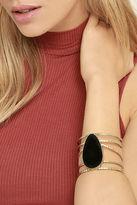 LuLu*s Wandering Star Black and Gold Cuff Bracelet