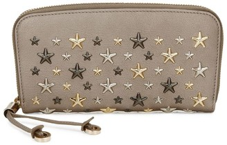 Jimmy Choo Leather Star-Studded Filipa Wallet