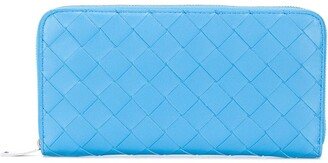 Bottega Veneta Intrecciato-weave continental wallet