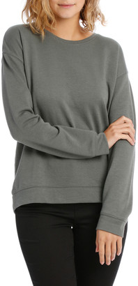Miss Shop Terry Back Basic Sweat Top