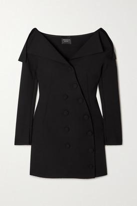 A.W.A.K.E. Mode Off-the-shoulder Crepe Mini Dress - Black